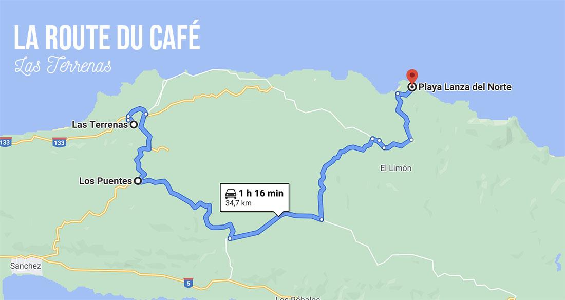 La Route du Café - Las Terrenas - itinéraire