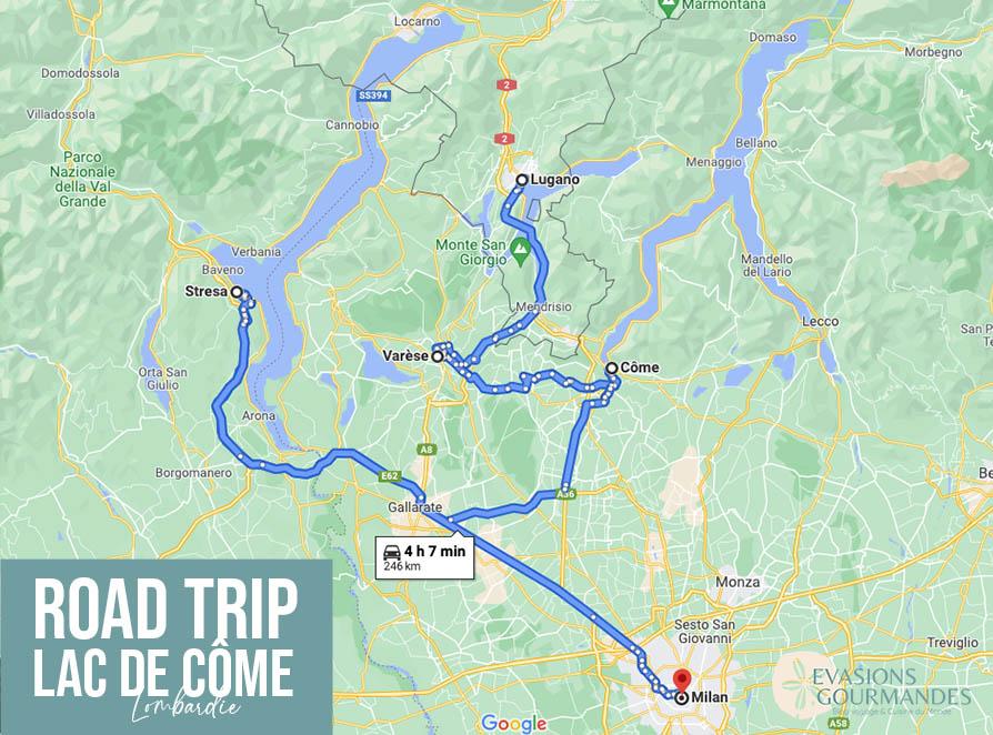 road trip Lombardie
