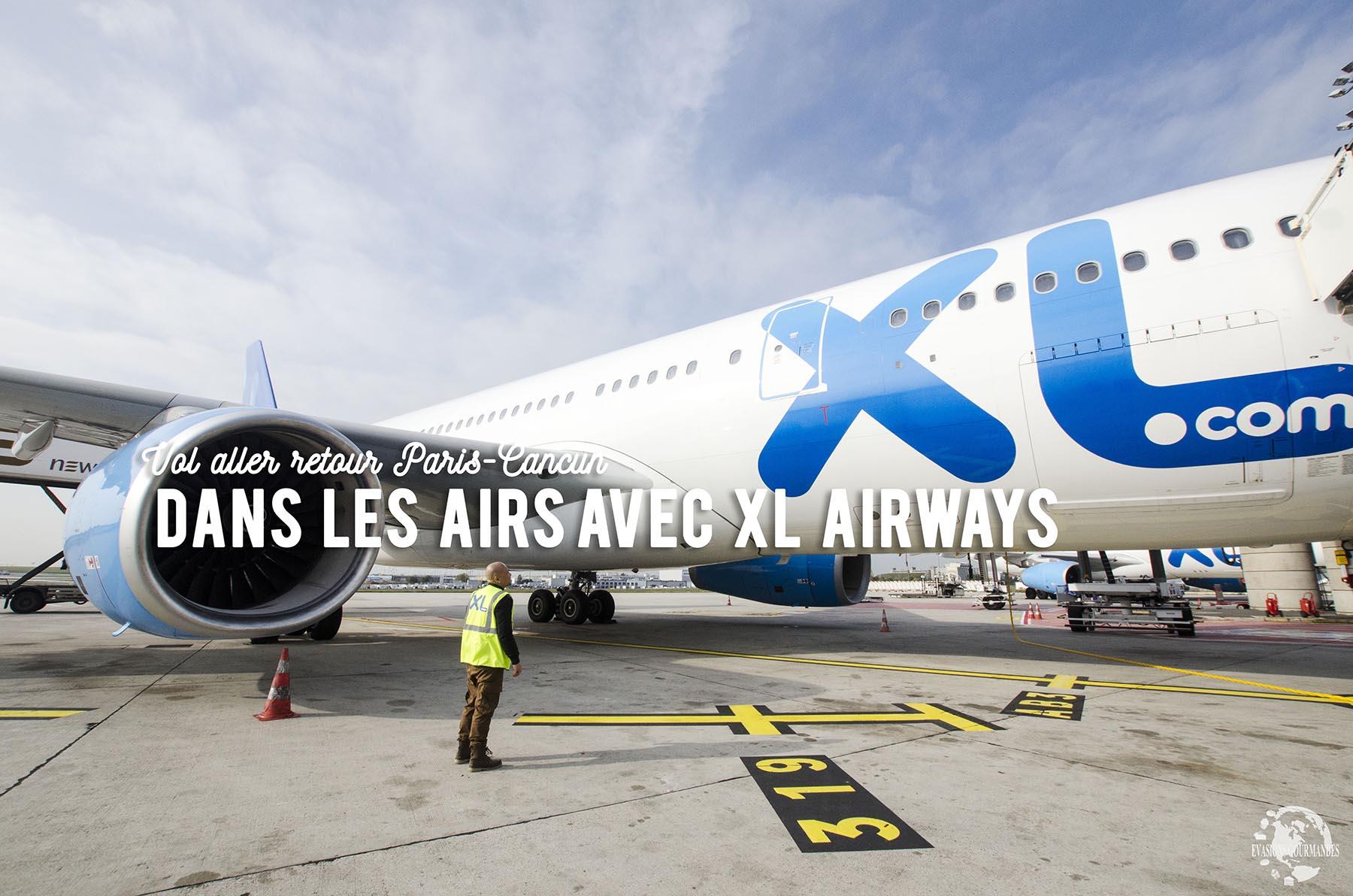 Vol Paris Cancun avec XL Airways