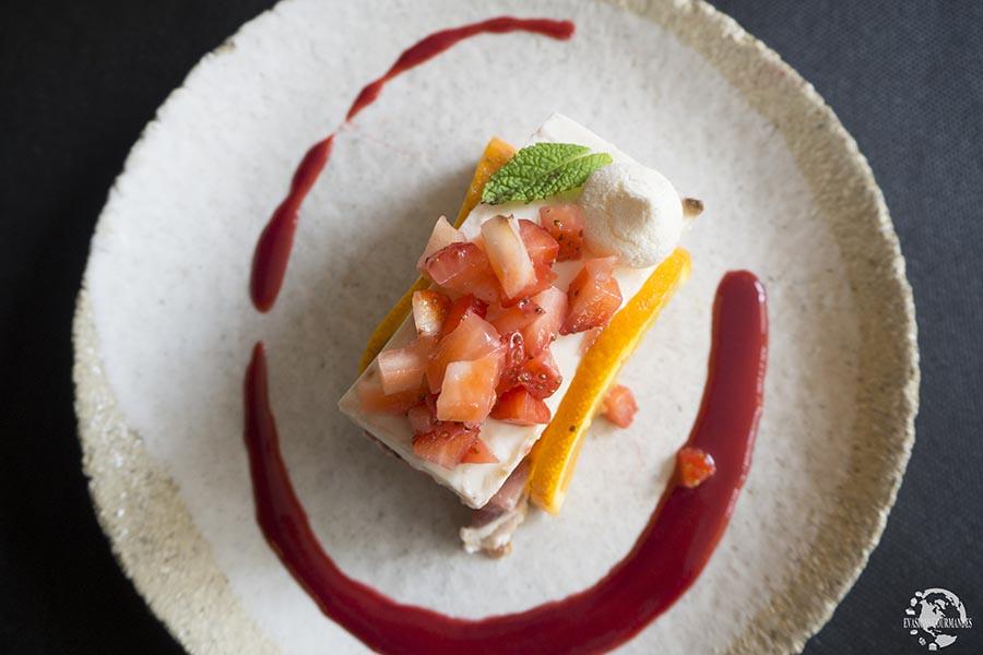 Cheesecake fraise, restaurant Osé