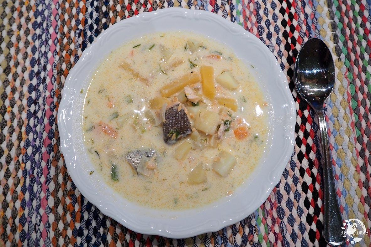 Lohikeitto, soupe de saumon Laponie