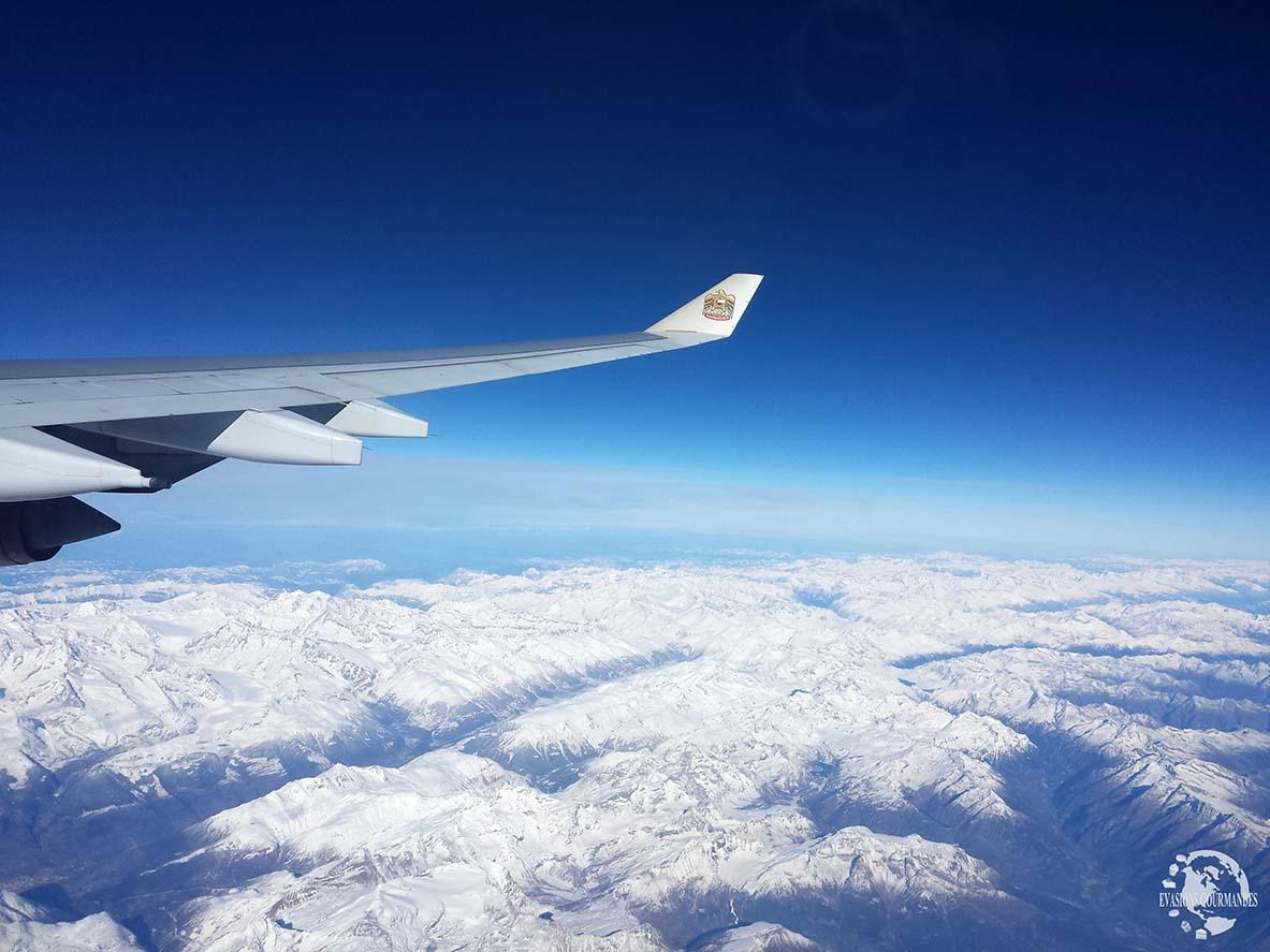 Alpes vues du ciel