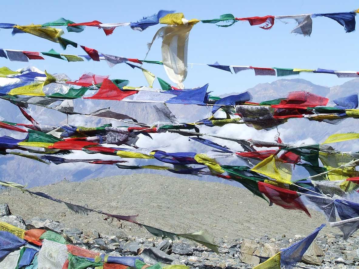 drapeau prière Népal
